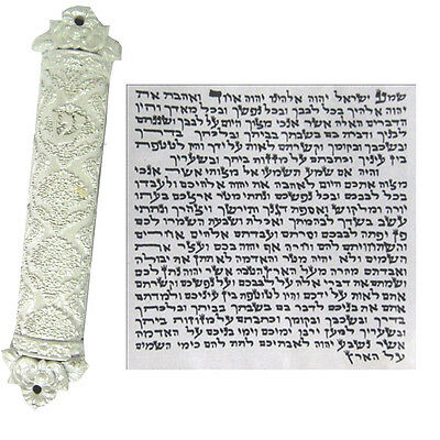 Mezuzah Case With Non Kosher Scroll Judaica Mezuza whith Color Israel Jewish