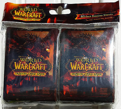 World Of Warcraft WOW TCG Deathwing Deck Protector 80 Card Sleeves MTG