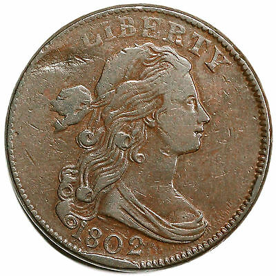 1802 S-225 R-3 Draped Bust Large Cent Coin 1c