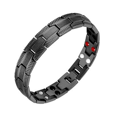 TITANIUM BIO MAGNETIC BRACELET Germanium Therapy Energy Men Health CARBON FIBRE