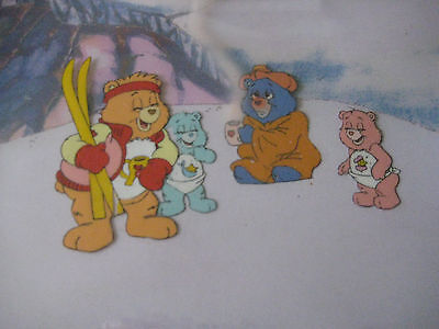 """Care Bears  Original Hand Painted Animation Production Cel """"ready to hang """""""