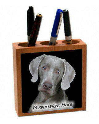 Weimaraner  # 18    Personalized  Pencil and Pen Holder