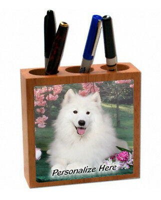 American Eskimo Dog    ( 5 )    Personalized  Pencil and Pen Holder
