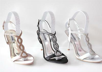 GOLD, BLACK, SILVER Women's Party Dancing Evening Wedding Shoes Size 35 - 41