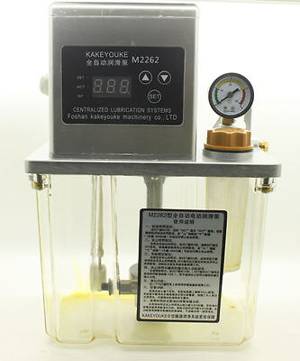 2L 220V Auto Lubrication Pump CNC Digital Electronic timer LCD Automatic oiler
