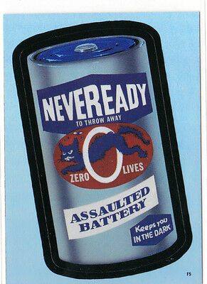 2006 WACKY PACKAGES ANS4 FOIL CARD **NEVEREADY BATTERY** F5 ONLY 99 CENTS!! WOW!