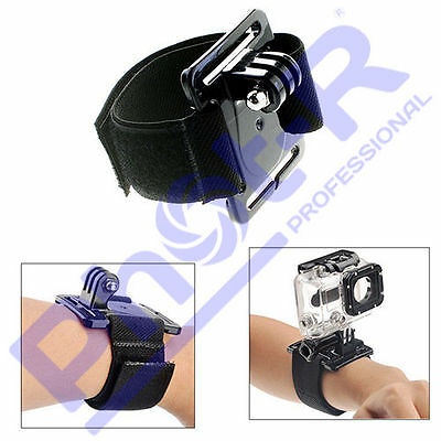 PhotR Adjustable Wrist Strap Mount Accessories Black Band for GoPro Hero 3+ 4 5