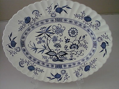 "ENGLISH STAFFORDSHIRE BLUE NORDIC 12"" platter J & G MEAKIN"