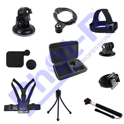 Phot-R Accessories Wrist Chest Head Strap Case Tripod Mount Kit for GoPro 4 3+