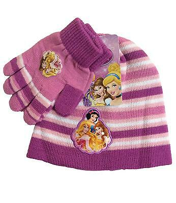 Disney Princess Hat and Gloves Set Purple One Size Fits 4 to 8 Years