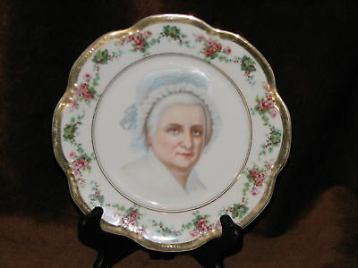 A C S Bavaria Hand Painted Roses & Gold Trimmed Plate
