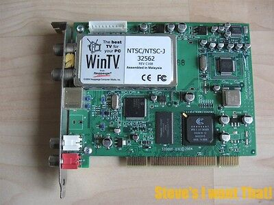 Hauppauge WinTV NTSC/NTSC-J 32562 Rev C168 5187-4376 TV Tuner Card #D16