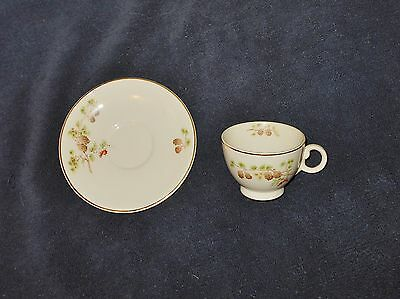 TAYLOR SMITH TAYLOR  PINE CONE & BERRIES CUP & SAUCER