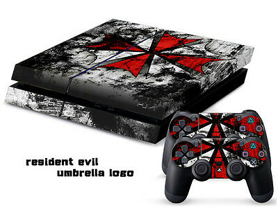 RESIDENT EVIL LOGO 094 DECAL SKIN PROTECTIVE STICKER for PS4 CONSOLE CONTROLLER