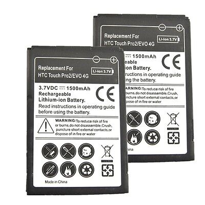 2 × 1500mAh Li-Ion Battery For Sprint HTC Touch Pro2 S511 / HTC evo
