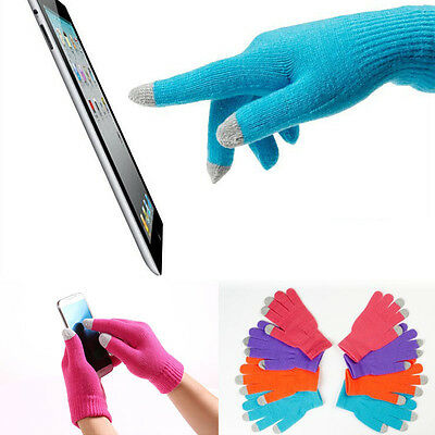 Hot Touch Screen Gloves Smartphone Texting Stretch Adult One Size Winter Knit