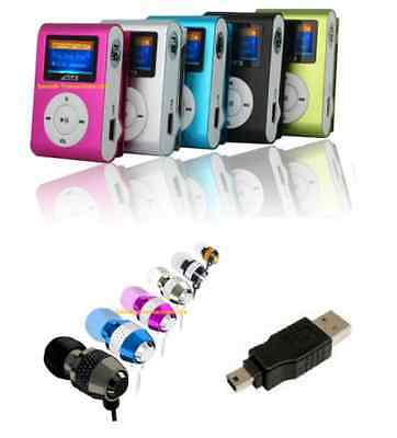 4GB Mini Clip MP3 Player with LCD Screen, Earphones and USB Connection