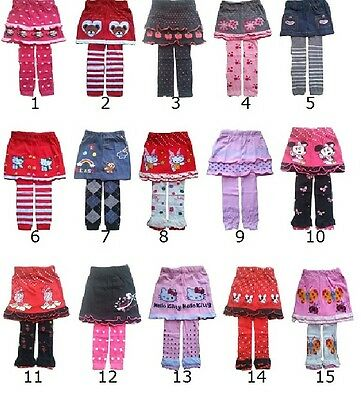 Kids baby girls skirt with tights 1 2 3 4 years outfit children clothing