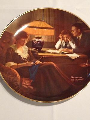 Normal Rockwell Knowles Collector Plate - Fathers Help