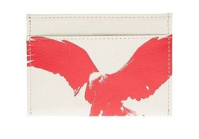 New Armani Exchange AX Mens Embossed Eagle Card Case Holder