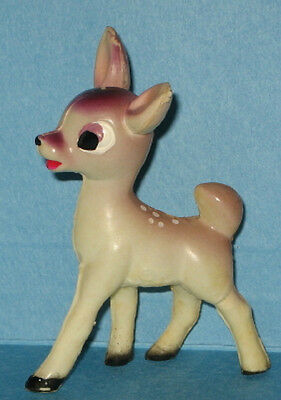 "1940s Celluloid Bambi Disney 2 1/4"" Figurine Toy - Perfect Litttle Gift"