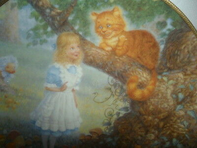 BRADFORD ALICE IN WONDERLAND THE CHESHIRE CAT SCOTT GUSTAFSON PLATE MIB COA