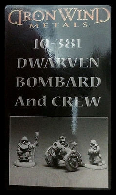 IRON WIND METALS 10-381 DWARF CANNON AND CREW NISB ( ral partha reaper d & d  )