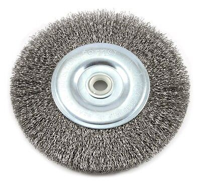 NEW Forney 72745 Wire Bench Wheel Brush  Coarse Crimped with 1/2-Inch and 5/8-In