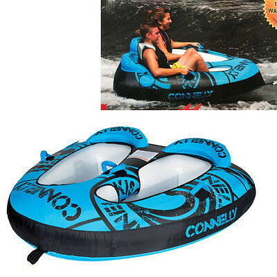 Connelly X2 (2 Person) Ski Inflatable Tube Biscuit Towable Double Surf