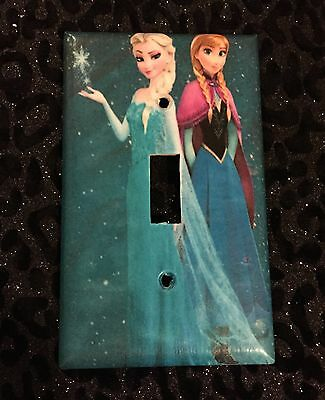 Frozen Light Switch Cover Wall Plate With Elsa Anna Kids Room Decor
