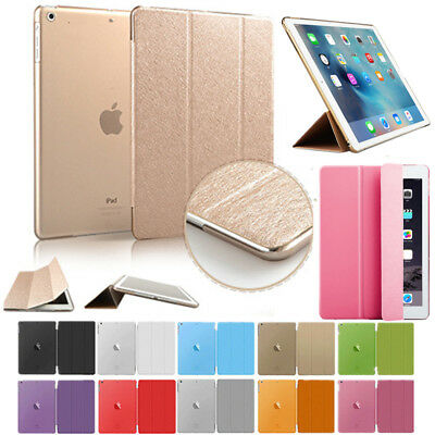 UK Fashion Color Smart Leather Cover Case For Apple iPad 2 3 4 Air Pro Mini
