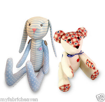 2 X INDEPENDENT Design Sewing PATTERNS Gothic Rag Doll & Teddy Bear ...