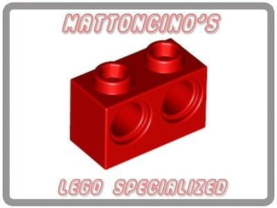 LEGO4x 32000 Red Technic, Brick 1 x 2 with Holes NEW