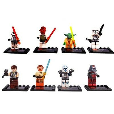 Lots of 8 Sets MiniFigures STAR WARS Series Building Toys New Blocks Vintage