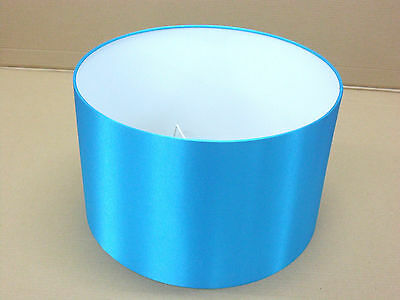 "Hand Made 8"" Rolled Edge Turquoise Satin Lampshade"