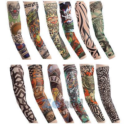 Vogue Men Cycling Bike Bicycle Tattoo Protection Arm Cuff UV Sun Sleeve Cover