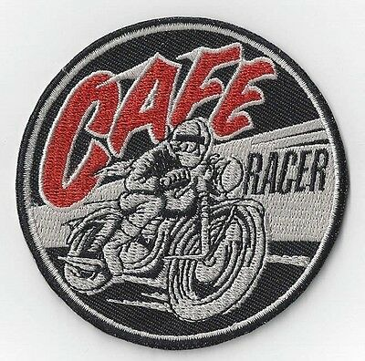 3 INCH CAFE RACER IRON ON  PATCH BUY 2 GET 1 FREE = 3 of these