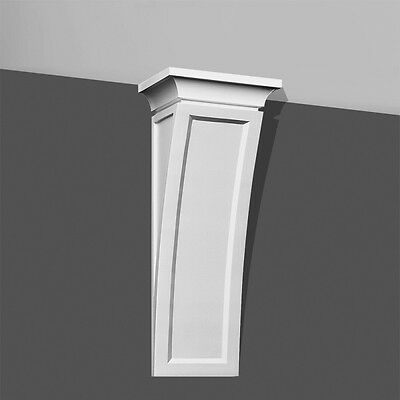 "Modern Concave Corbel 20"" Long bracket for wall shelf ceiling stairs furniture"
