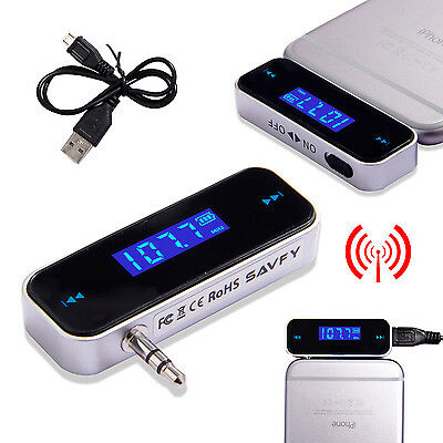 Wireless FM Radio Music Transmitter Car Player for iPhone 4 5 5S 6 6S universal