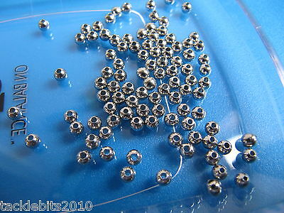 4mm SOLID BRASS BEARING BEADS NICKEL PLATED FLYING C SPINNER PARTS LURE MAKING
