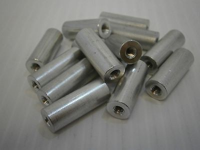 RAF 1826-832-A female standoff spacer aluminum 832 thread thru lot of 25 #212
