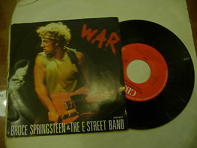 "BRUCE SPRINGSTEEN""WAR/MERRY CHRISMAS BABY-disco 45 giri CBS Holl 1986"""""
