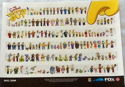 "THE SIMPSONS TAPPED OUT -18""x24"" Original Promo Poster SDCC 2014 MINT XXXX/2500"