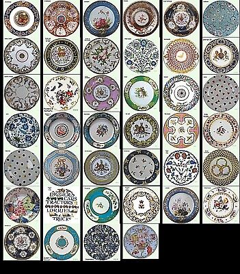 Museum Collection Decorative Tin Enamel Floral Plates - Picnic Party Display
