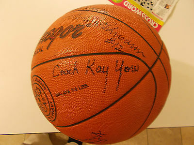 AUTOGRAPHED COACH KAY YOW BASKETBALL - ENTIRE NC STATE TEAM SIGNED AS WELL