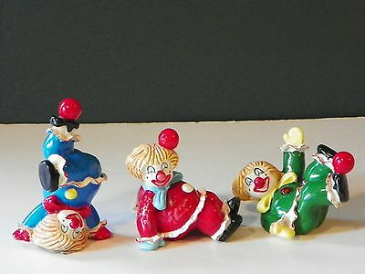 Vintage Lot of 3 Clowns by George Good Made in Taiwan