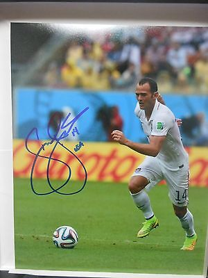 Team USA Brad Davis Signed Autographed 8 x 10 photo B soccer MLS FIFA World CUP