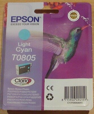 GENUINE EPSON T0805 TO805 Light Cyan cartridge airtight ORIGINAL HUMMINGBIRD ink