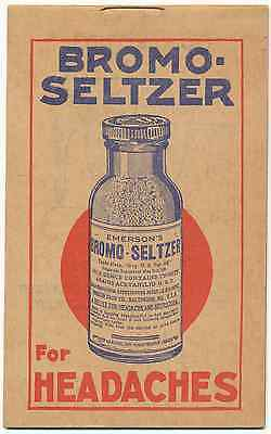 Bromo-Seltzer Note Pad Frank Euler South English Iowa c1910