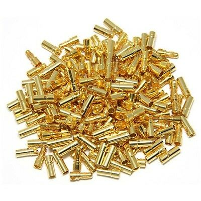 50pairs/lot 3.5mm Gold Bullet Connector Male / Female Plug for Battery ESC